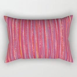 Stripes  - Candy pink red orange and blue Rectangular Pillow