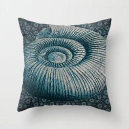 Ammonite on pattern 2201 Throw Pillow