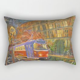 Night tram Rectangular Pillow