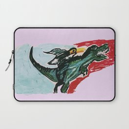 The Running Dinosaur and the Toucan  Laptop Sleeve