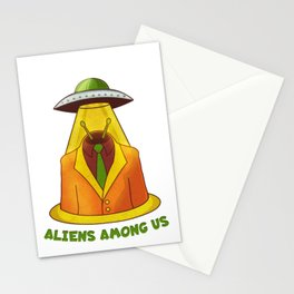 Alien and UFO Stationery Cards
