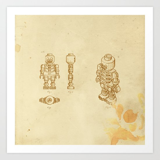 Lego Skeleton Art Print