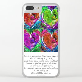 Romantic Art - Completely Yours - By Sharon Cummings Clear iPhone Case