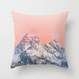 Alpenglow LIVING CORAL Mountain Sunset Throw Pillow