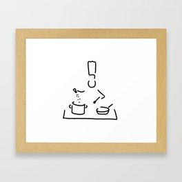 cook gourmet cooker Framed Art Print