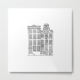 canal houses two Metal Print