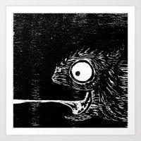 leon Art Prints featuring Leon  by liquidmoon