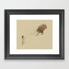Sandy the Lion Framed Art Print