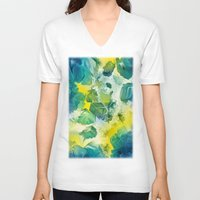 mineral V-neck T-shirts featuring Mineral Series - Andradite by ShannonPosedenti