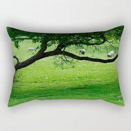 The Sheep In The Meadow Rectangular Pillow