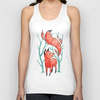 carpe Tank Tops featuring Winter Fox by Freeminds