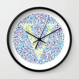 """V"" Eye Test Letter Circle Wall Clock"