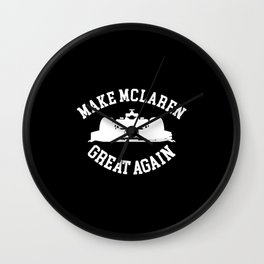 Make Mclaren Wall Clock