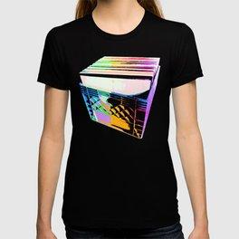Crate of Vinyl LP Records (pop art colors) T-shirt