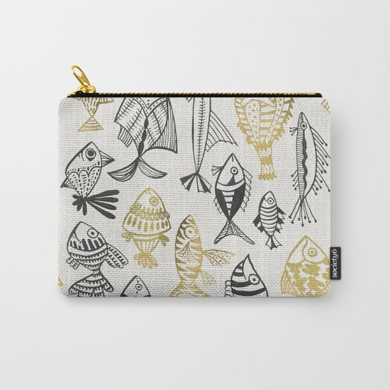 Inked Fish – Black & Gold Carry-All Pouch