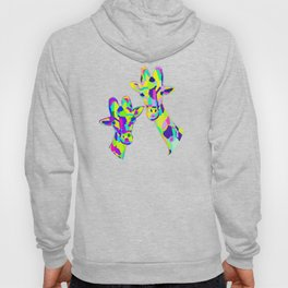 Abstract Cute Giraffe with Neon Colorful Spots Hoody