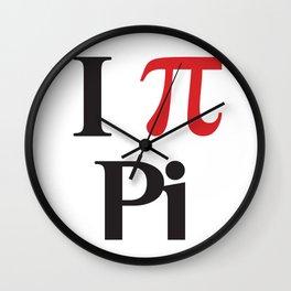 I Heart Pi Wall Clock