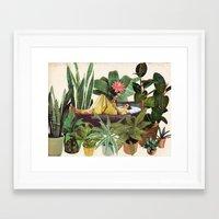 Framed Art Prints featuring TERRARIUM by Beth Hoeckel