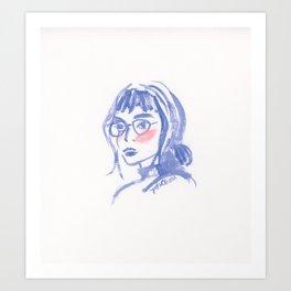 A Geek Girl Art Print