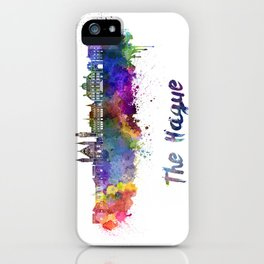 The Hague skyline in watercolor iPhone Case