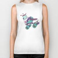 roller derby Biker Tanks featuring Roller Derby Motherf***er by Kiwii Illustration