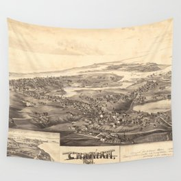 Vintage Pictorial Map of Chatham Massachusetts (1894) Wall Tapestry