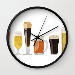 Beer Mugs Wall Clock