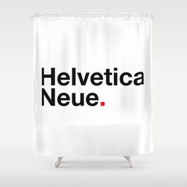 Helvetica Neue Art typography typefaces Design Shower Curtain