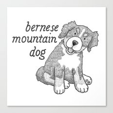 Dog Breeds: Bernese Mountain Dog Canvas Print