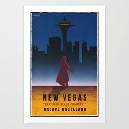 Fallout New Vegas - Vintage Style Vacation Poster Art Print
