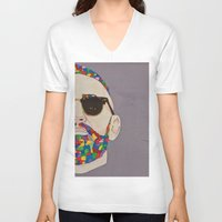 grafitti V-neck T-shirts featuring grafitti art by Kristina Jovanova
