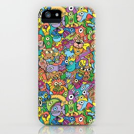 A pinch of everything in a pattern full of carnival colors iPhone Case