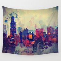 chicago Wall Tapestries featuring Chicago by Danielle DePalma