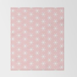 white star and heart on pink background Throw Blanket