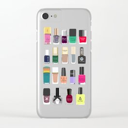 My nail polish collection art print Clear iPhone Case