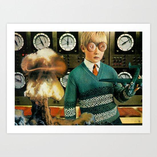 Atomic Boy Art Print