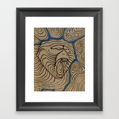 angry baboon Framed Art Print