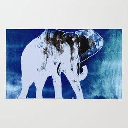 Elephant (blue version) Rug