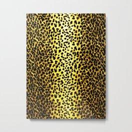 Leopard Print Animal Wallpaper Metal Print