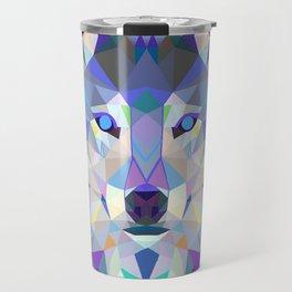 Ice Wolf Travel Mug