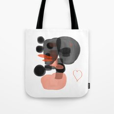 black and orange Tote Bag