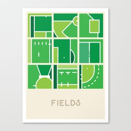 Fields (Sports Surfaces Series, No. 2) Canvas Print