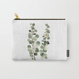 Eucalyptus (watercolor finger painting) Carry-All Pouch