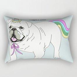 Uniforn bulldog Rectangular Pillow