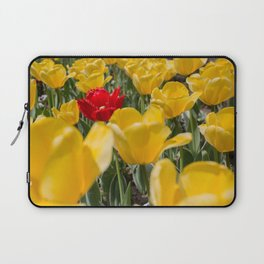 Many yellow tulips and one red Laptop Sleeve