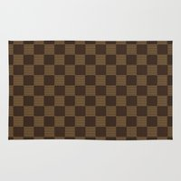 lv Area & Throw Rugs featuring LV pattern style by aleha