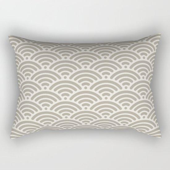 Wave Alabaster Blue Gray Rectangular Pillow