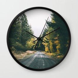 Autumn Drive Wall Clock