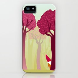 colorful forest with cute dwarf iPhone Case