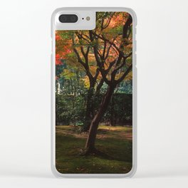Early Autumn Trees Clear iPhone Case